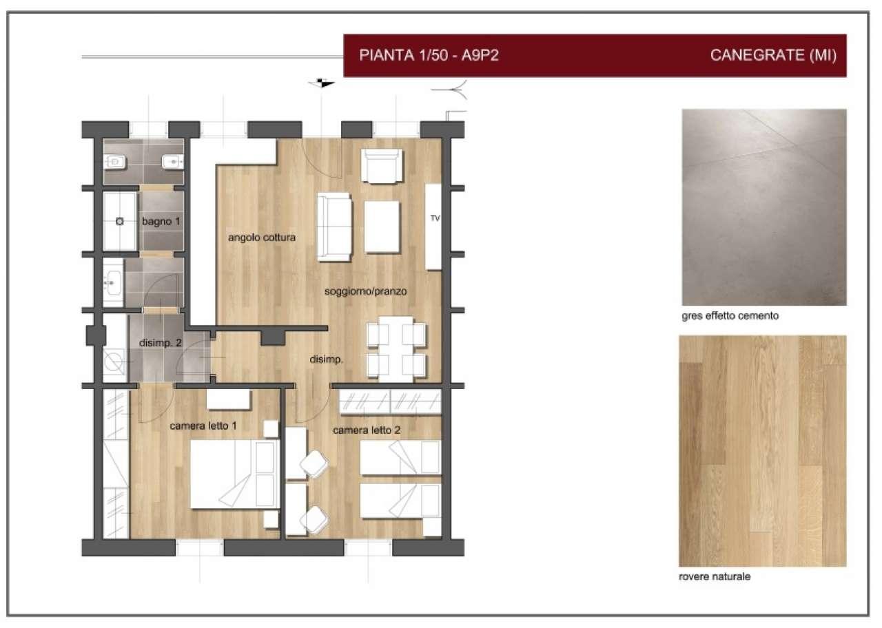 Nuovo appartamento di tre locali in Corte Manzoni, foto 13