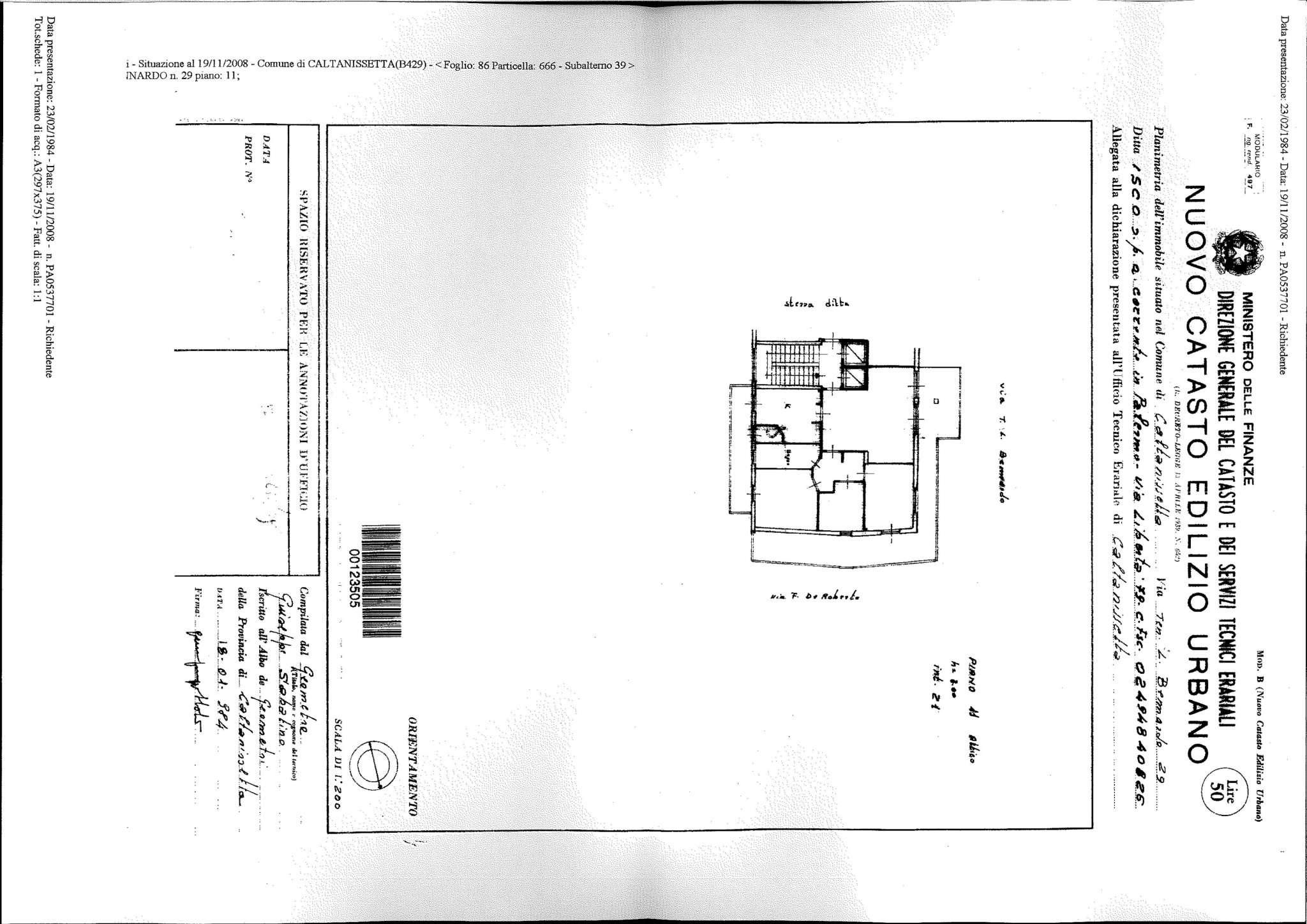 Appartamento quadrilocale in vendita a Caltanissetta (CL)