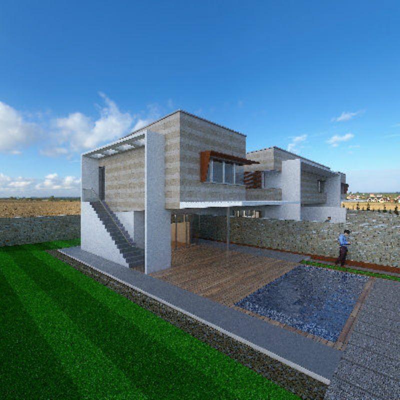 Villette in costruzione vista mare con giardino, foto 0