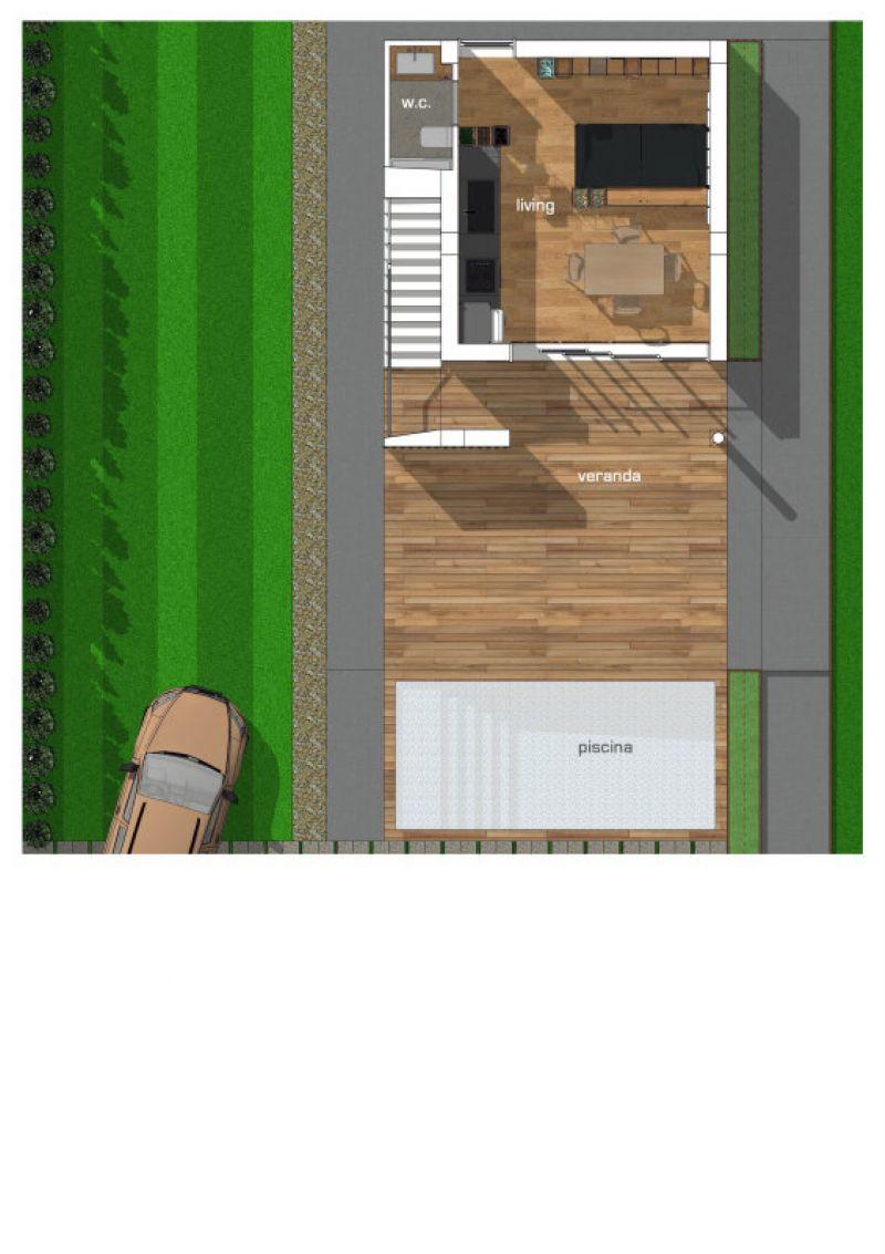 Villette in costruzione vista mare con giardino, foto 9