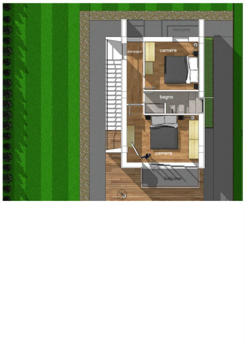 Villette in costruzione vista mare con giardino, foto 10