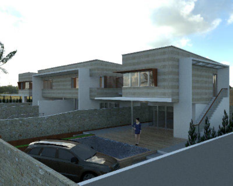 Villette in costruzione vista mare con giardino, foto 1
