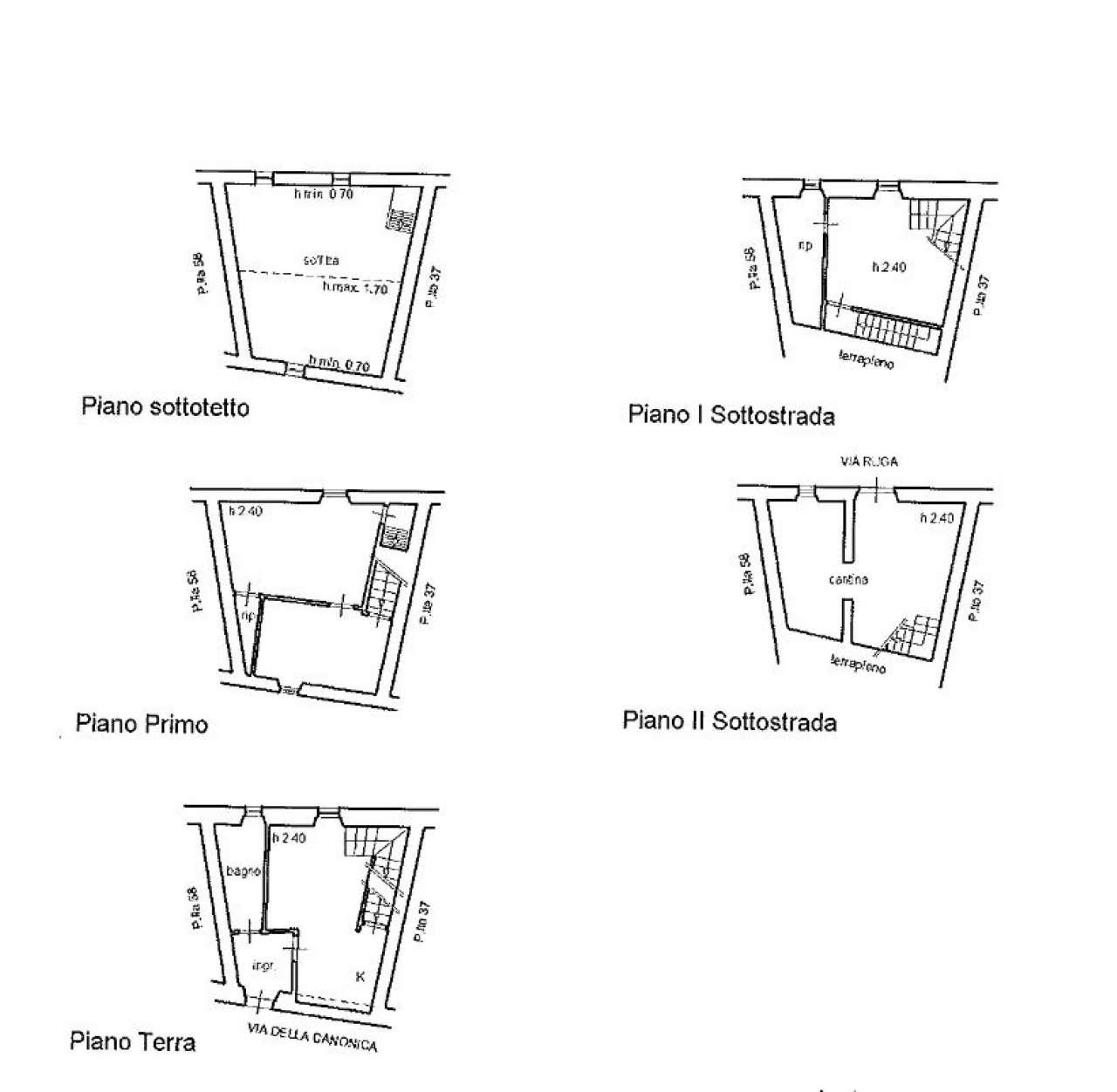 Quadrilocale disposto su due livelli con vista panoramica e cantina